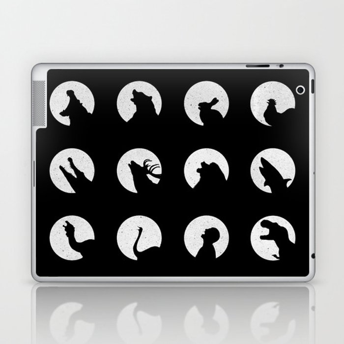 Wolf's Night Off Laptop & iPad Skin