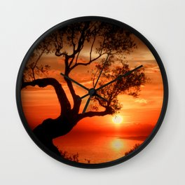 sunset at the sea Wall Clock