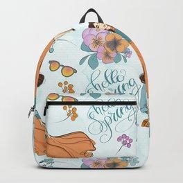 Hello Spring Fashion Girl Backpack