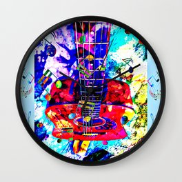 Steve's guitar Wall Clock
