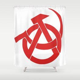Anarcho-Communist Red Shower Curtain