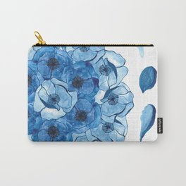 The Poppy blue petal Carry-All Pouch