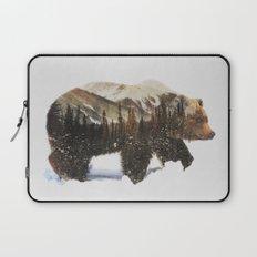 Arctic Grizzly Bear Laptop Sleeve