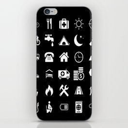 Extreme White Icon model: Traveler emoticon help for travel t-shirt iPhone Skin