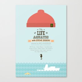 The Life Aquatic with Steve Zissou - minimal poster Canvas Print