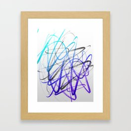 Expressive and Spontaneous Abstract Marker Framed Art Print