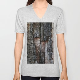 Tree Bark close up Unisex V-Neck