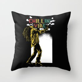 Chilling Vibe Throw Pillow