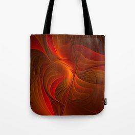 Warmth, Abstract Fractal Art Tote Bag