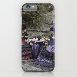 Victorian Ladies and a Dog iPhone Case