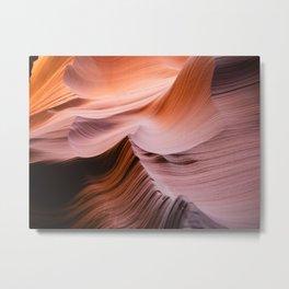 Curves. Antelope Canyon, Arizona. Metal Print