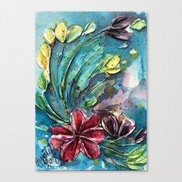 textured floral Canvas Print