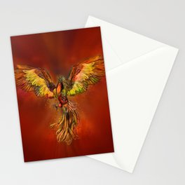 Phoenix Rising - red sky Stationery Cards