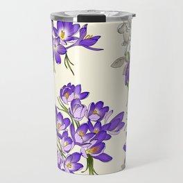Purple Crocus Travel Mug