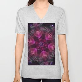 Hearts (from a pink, carnival decoration) Unisex V-Neck
