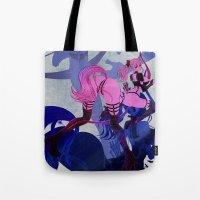 sagittarius Tote Bags featuring SAGITTARIUS by Chandelina