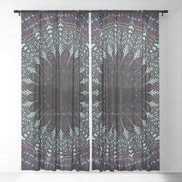 Futuristic Mandala art Sheer Curtain