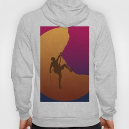 Climbing sunset No2 Hoody