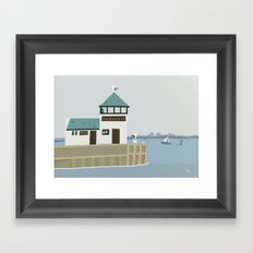 The Dock Beach Wall Art, Beach Art Nursery Decor, Nursery Wall Art for Boys Room Framed Art Print