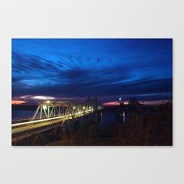 Evening Blues Canvas Print