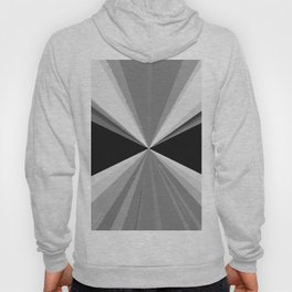 Modern abstract black white triangles pattern Hoody