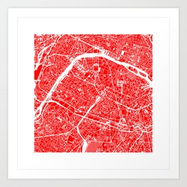 PARIS MAP ART Art Print