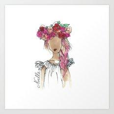 Flower Crowned Art Print