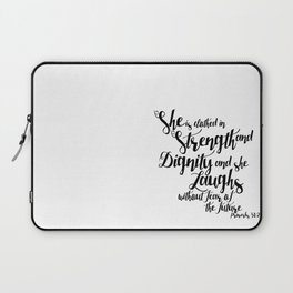 She is ... Laptop Sleeve