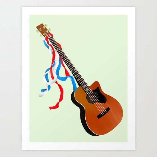 Acoustic Bass Art Print
