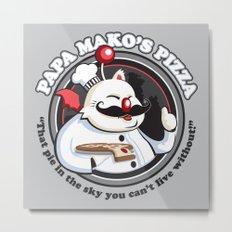 Papa Mako's Pizza Metal Print