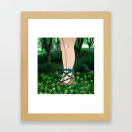 Stroll in an Irish Forest Framed Art Print