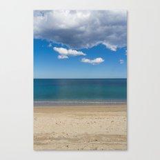 Stripes of blue Canvas Print
