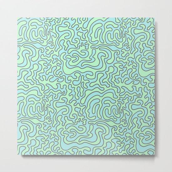 Wacky Pattern Metal Print