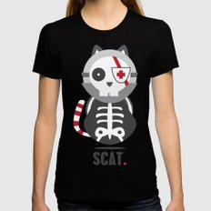 Scat Womens Fitted Tee SMALL Black