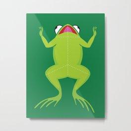 Knife the frog Metal Print