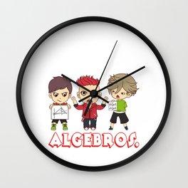 "Math Shirt For All Mathematicians ""What Do You Call Friends Who Love Math Algebros"" T-shirt Design Wall Clock"