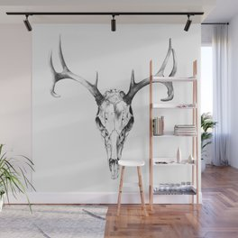 Deer Skull in Pencil Wall Mural