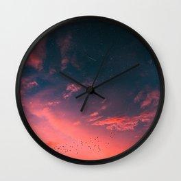 Heartbreak Sunset Wall Clock