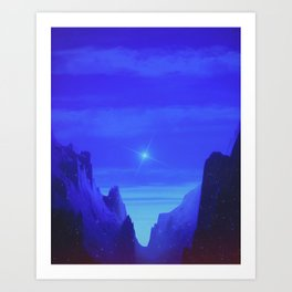 Blue Valley Art Print