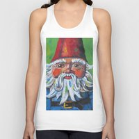 gnome Tank Tops featuring Garden Gnome  by Juliette Caron