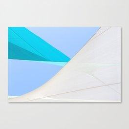 Abstract Sailcloth c1 Canvas Print