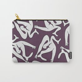 Picasso Pattern - Purple Background Carry-All Pouch