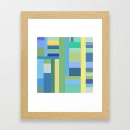 Abstract Blue Mint Green Geometry Framed Art Print