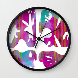 Four Square Miro Wall Clock
