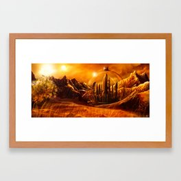 Gallifrey Framed Art Print