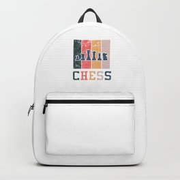 Geeks Nerd Games Boardgame Strategy Chess Retro Vintage Gift Backpack