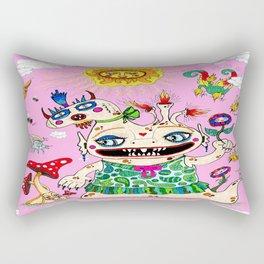 Little Baby Girl She-Beast and Friends, Pink Rectangular Pillow