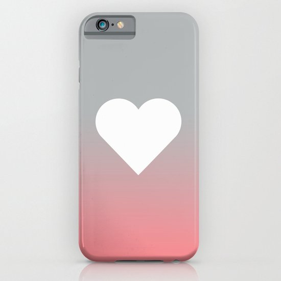 Peach Fade Heart iPhone & iPod Case