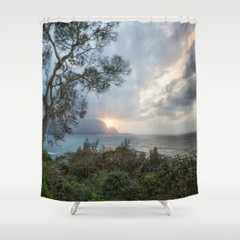 Sunset Over Hanalei Bay from St Regis Shower Curtain