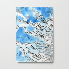 The Pyrenees as they appeared to me... Metal Print